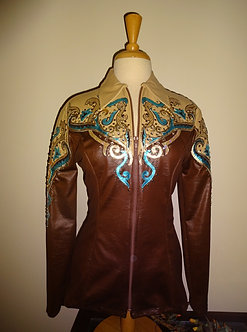Chocolate Brown, Buckskin and Turquoise Showmanship Outfit