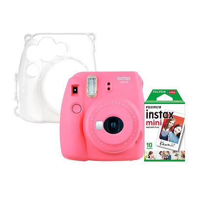 Kit Instax Mini 9 + Carcasa Clear