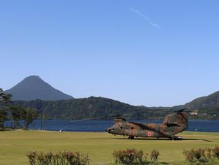 ヘリコプターによる避難訓練