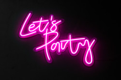 Let's Party - Neon Sign Hire