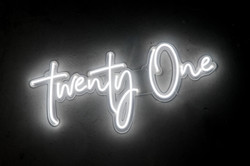 Twenty One - Neon Sign Hire