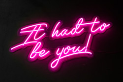 It had to be you! - Neon Sign Hire