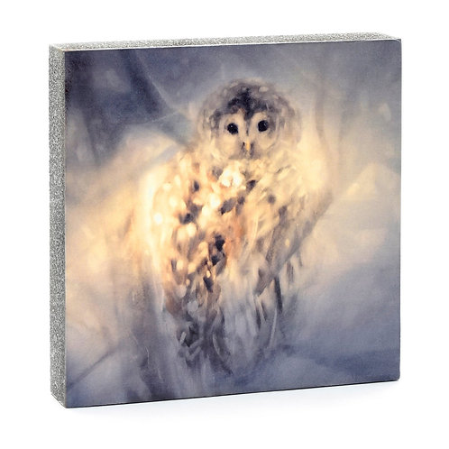 Barred Owl Art Block