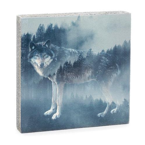 Forest Wolf Art Block