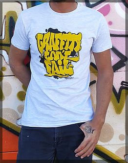 "T-shirt ""graffiti can't fail"" men.  designed by by Sader"