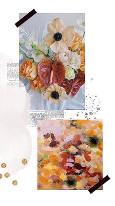 "Custom Floral 5"" x 5"""