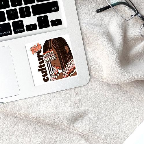 Rich Culture   Waterproof Glossy Transparent Sticker