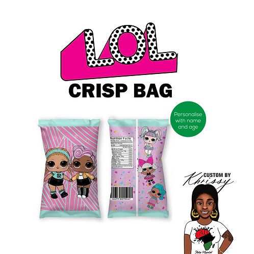 Custom LOL Surprise Doll  Crisp Bag