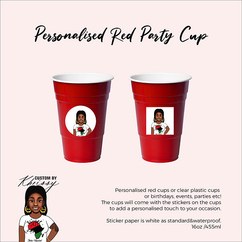 Personalised Red Party Cup