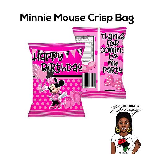 Custom Minnie Mouse Crisp Bag