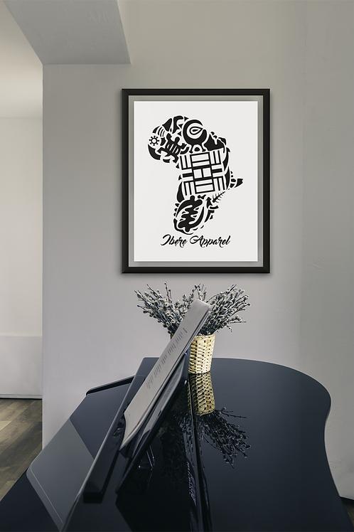 Adinkra AFRICA symbols |  Art Print