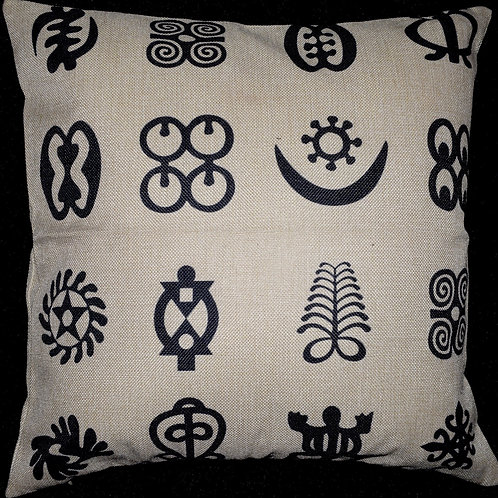 Adinkra Symbols CUSHION COVER