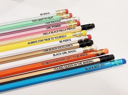 Motivational | Positive Affirmations  | Engraved Pencils