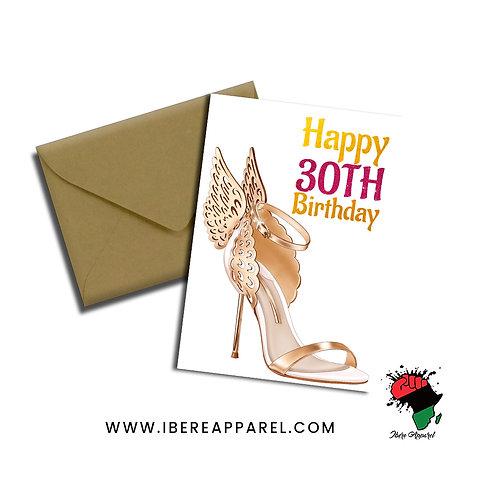 Happy 30th Birthday |  Greeting Card
