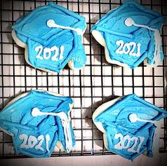 Decorated Graduation Cap Sugar Cookies