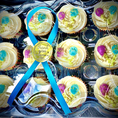 Decorated Vanilla Cupcakes