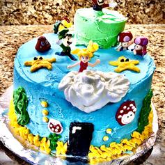 3-Layer Decorated Birthday Cake