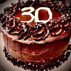 3-Layer Decorated Chocolate Cake
