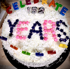 Decorated 3-Layer Coconut Cake