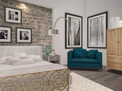 Elegant & Chic City Condo Bedroom