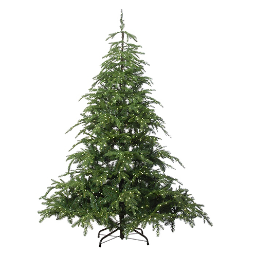 The natural Christmas tree (with lights)