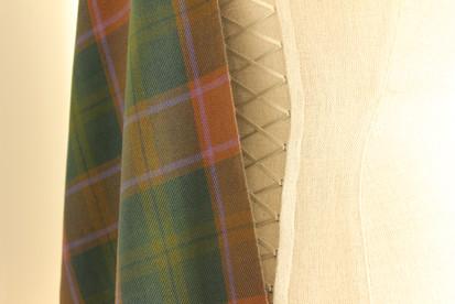 Artisan tartan sash in silk