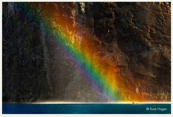 Regnbue geirangerfjorden