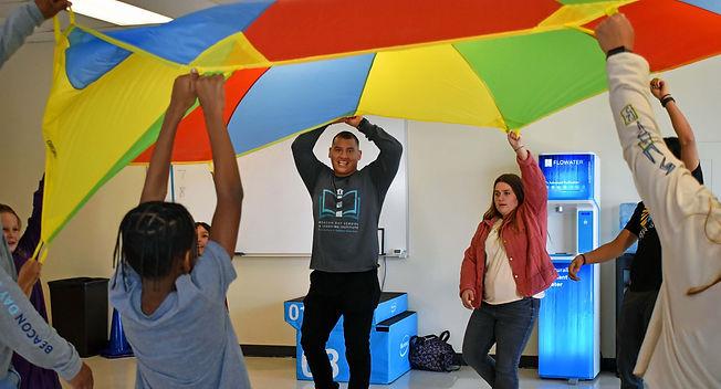 BDS Teachers + Students Parachute Game