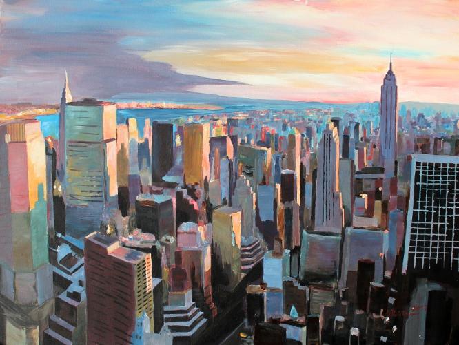 NYC - Warm Sunlight_Glowing_In_Manhattankl