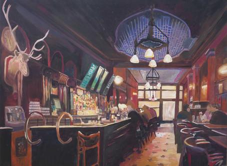 The Deer Pub - Typical Bar Scene In Ireland Scotland or England