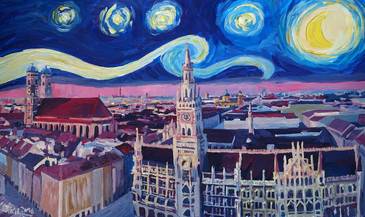 Starry_Night_In_Munich - Van Gogh Inspirations with Church of Our Lady and City Hallkl.JPG