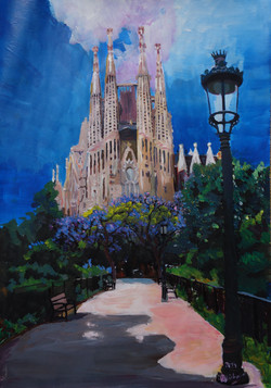 Barcelona Sagrada Familia with Park