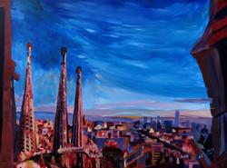 Barcelona City View and Sagrada Fami
