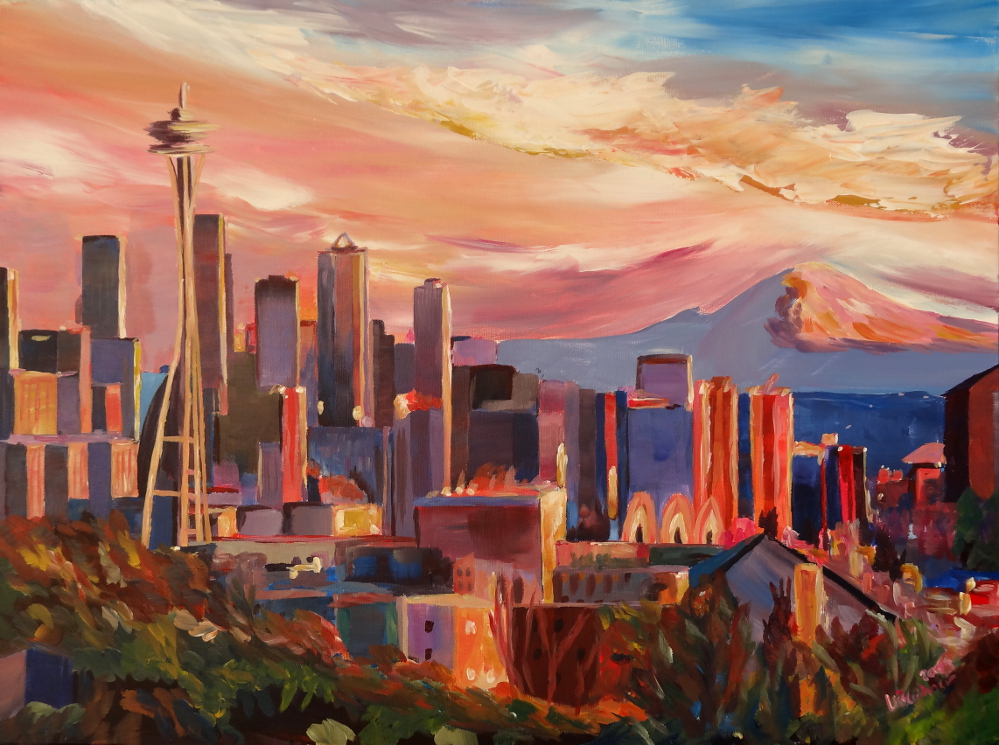 Seattle Skyline With Space Needle An