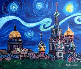Starry Night in St Petersburg Russiakl.JPG