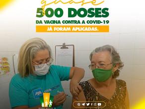 Quase 500 pessoas já foram vacinadas em Bento Fernandes