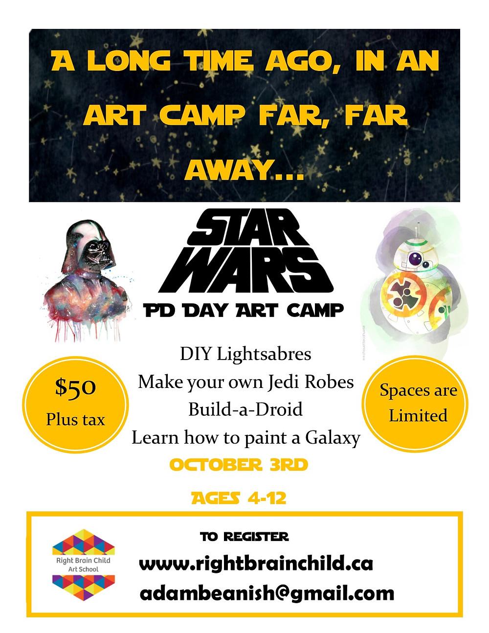 Star Wars Art Camp Flyer