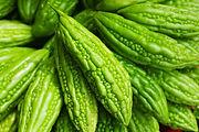 Bitter melon Momordica charantia on Asia