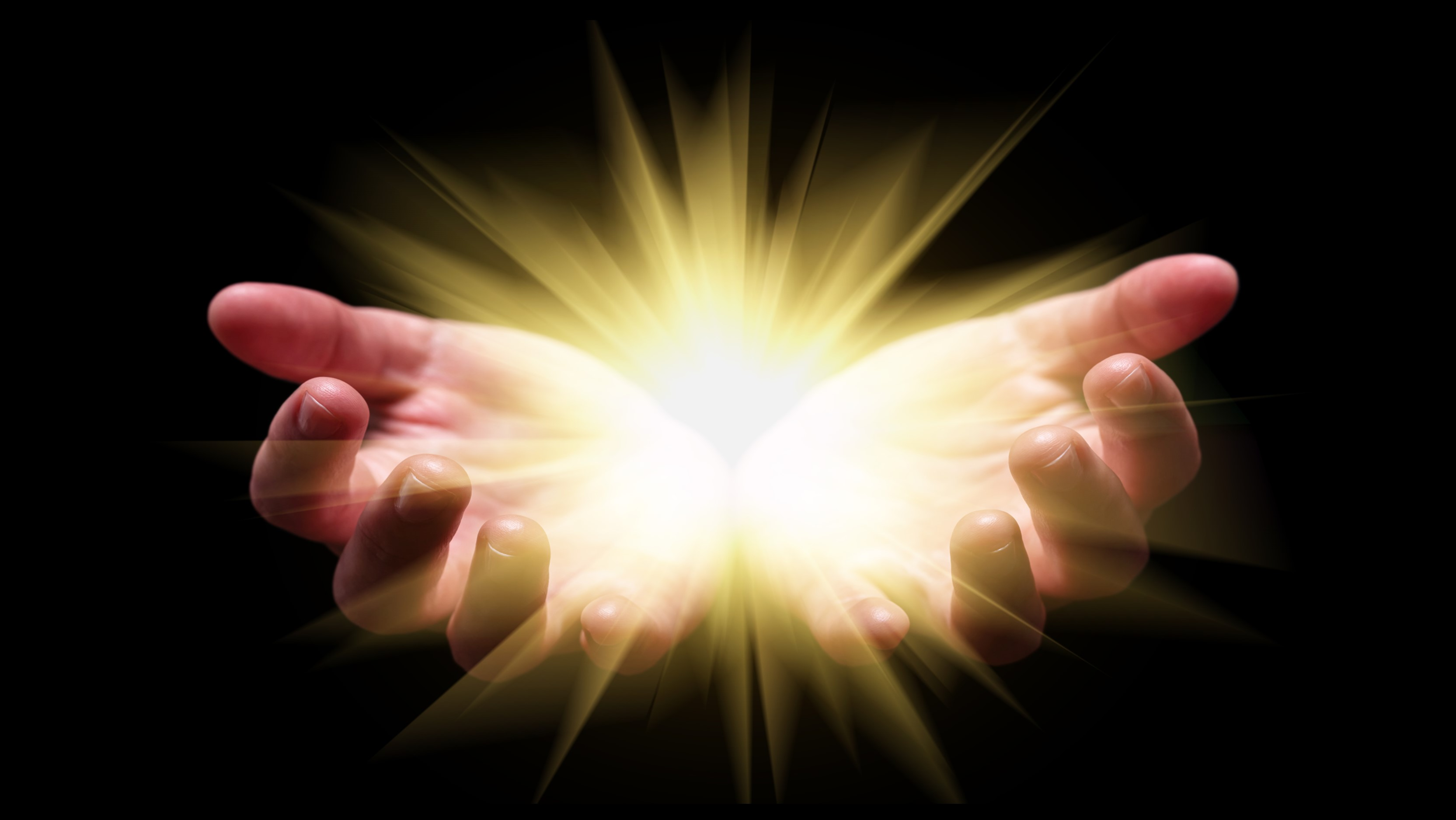 Hands with God Rays