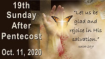 2020-10-11 19th Sunday after Pentecost.j