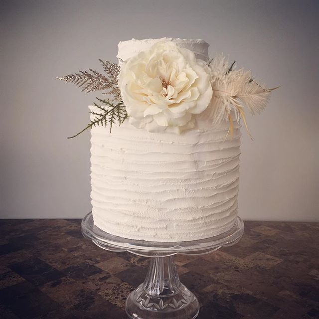 Pretty-In-Cream #buttercream #weddingcake is perfect for any wedding style
