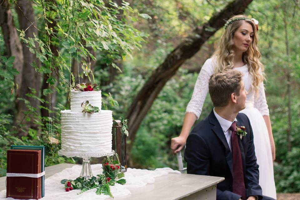 mountain wedding shoot