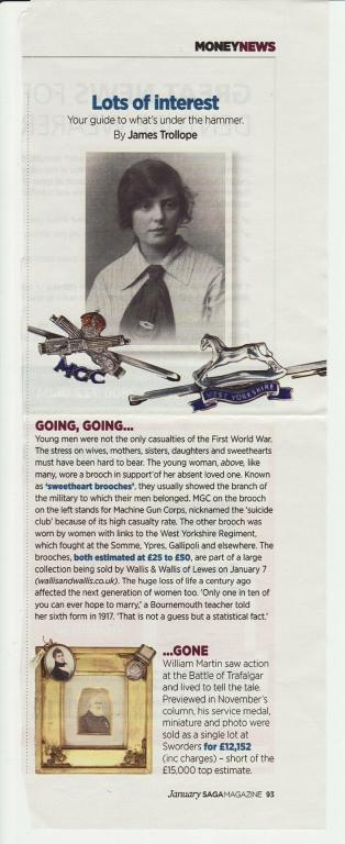 Saga Magazine auction 1993