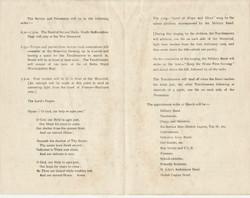 Programme for Armistice Day 11.11.19