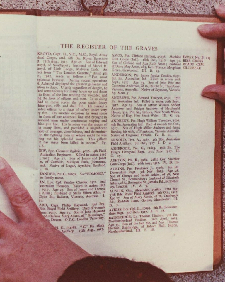 The register of graves, Birr Cross