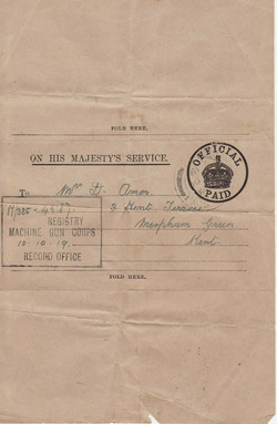 Reverse of letter to Mrs Amos 10.10.