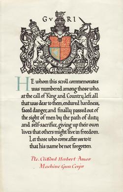 Commemoration scroll