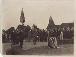 British Legion war memorial ceremony