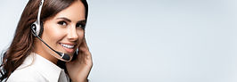 customer support phone operator in heads
