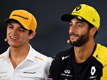 """Daniel Ricciardo rechaça euforia sobre parceria com Norris: """"Não será um show de comédia"""""""